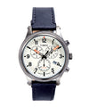 Timex Allied LT Chrono Black Leather White Dial 42mm