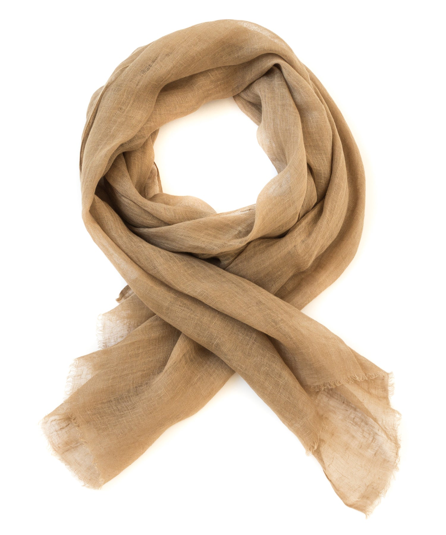 From The Road Tanu Scarf 100% Linen in Earth