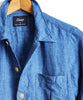 Drake's Linen Shirt Jacket in Blue Alternate Image
