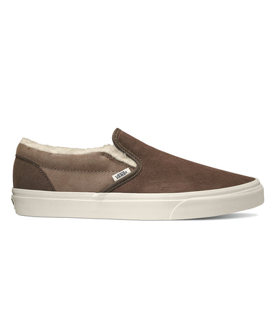a9f189501d30d3 Vans Classic Slip-on in Suede Sherpa Raindrum