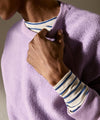 Reverse Fleece Crewneck Sweatshirt in Lilac