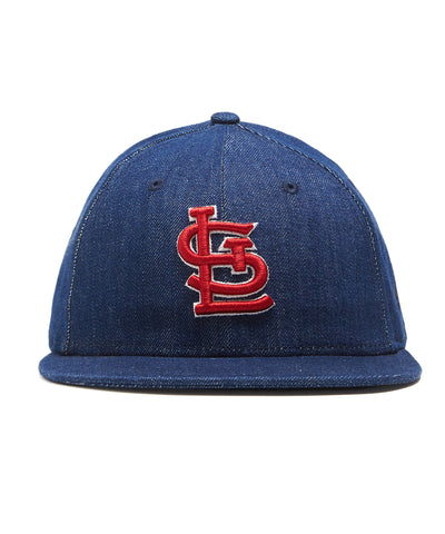 TODD SNYDER + NEW ERA MLB ST LOUIS CARDINALS CAP IN CONE DENIM