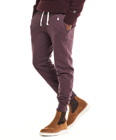 Slim Jogger Sweatpant in Plum