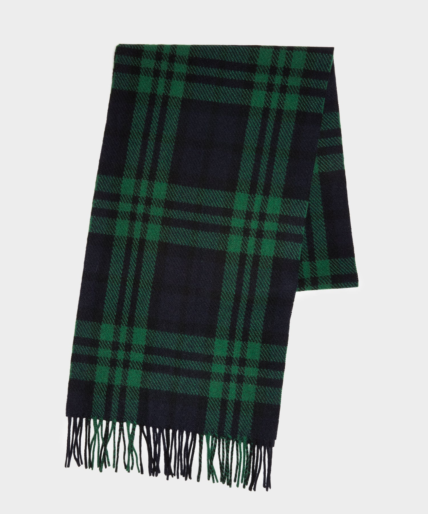 Joshua Ellis Cashmere Blackwatch Plaid Scarf
