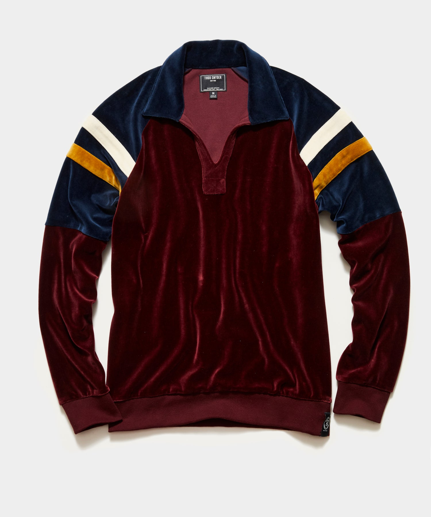 Velour Rugby Polo in Bordeaux
