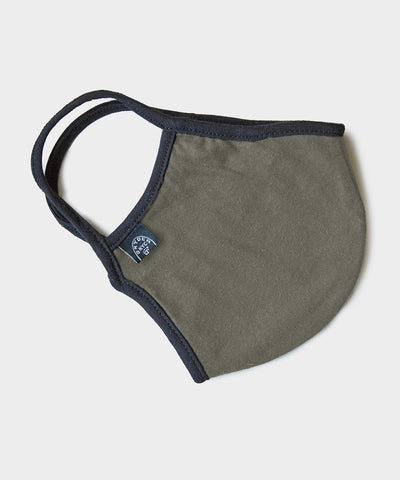 Cotton Jersey Face Mask in Olive Drab