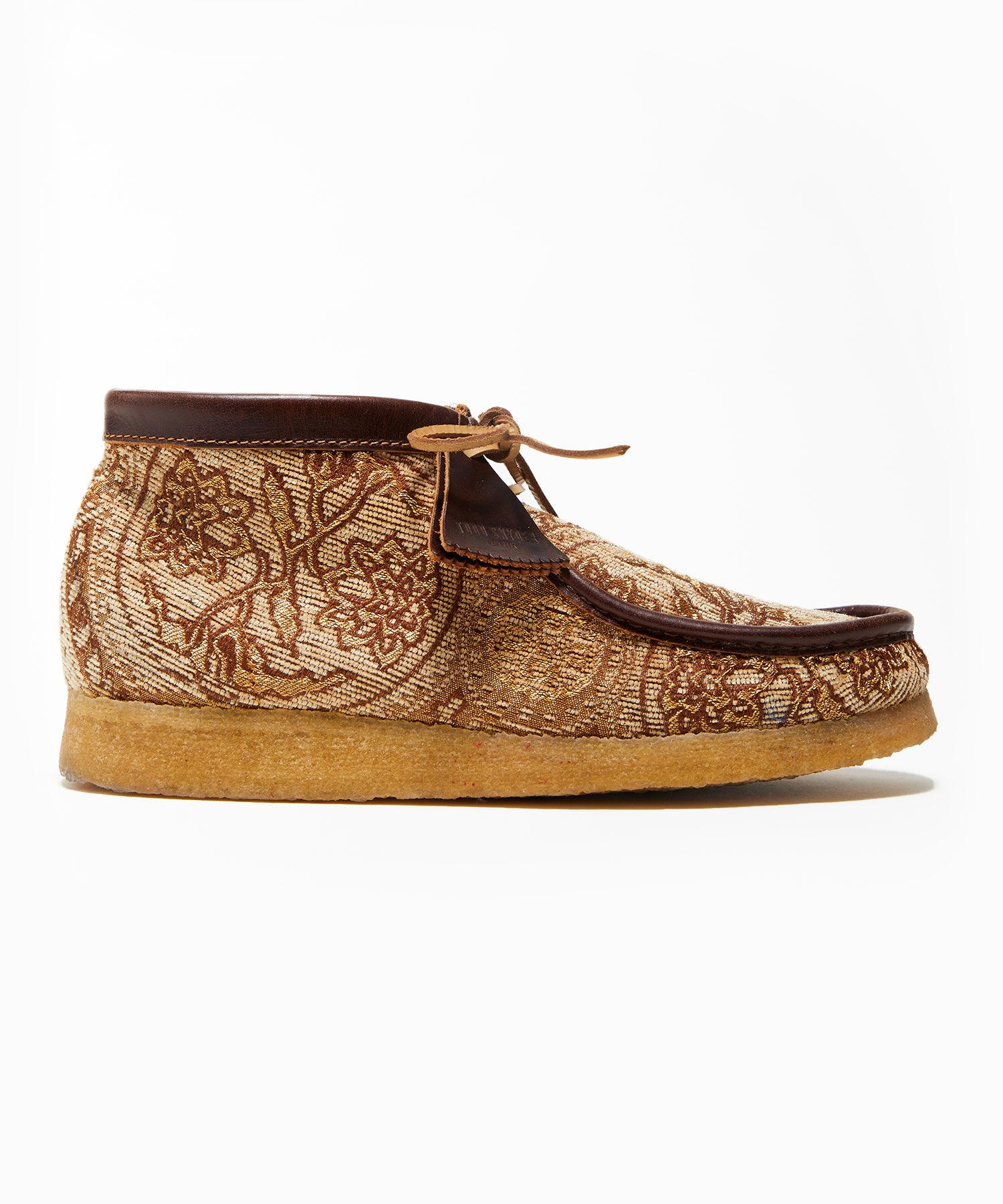 Todd Snyder x Clarks Originals Brown Paisley Wallabee Boot