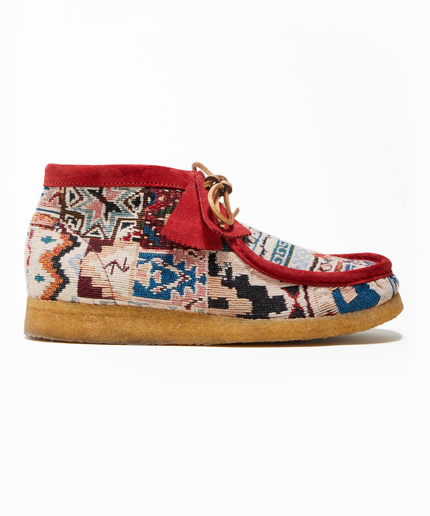 Todd Snyder x Clarks Originals Kaleidoscopic Red Wallabee Boot