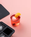 Peak Ice Cube Tray Xlarge in Marble Black