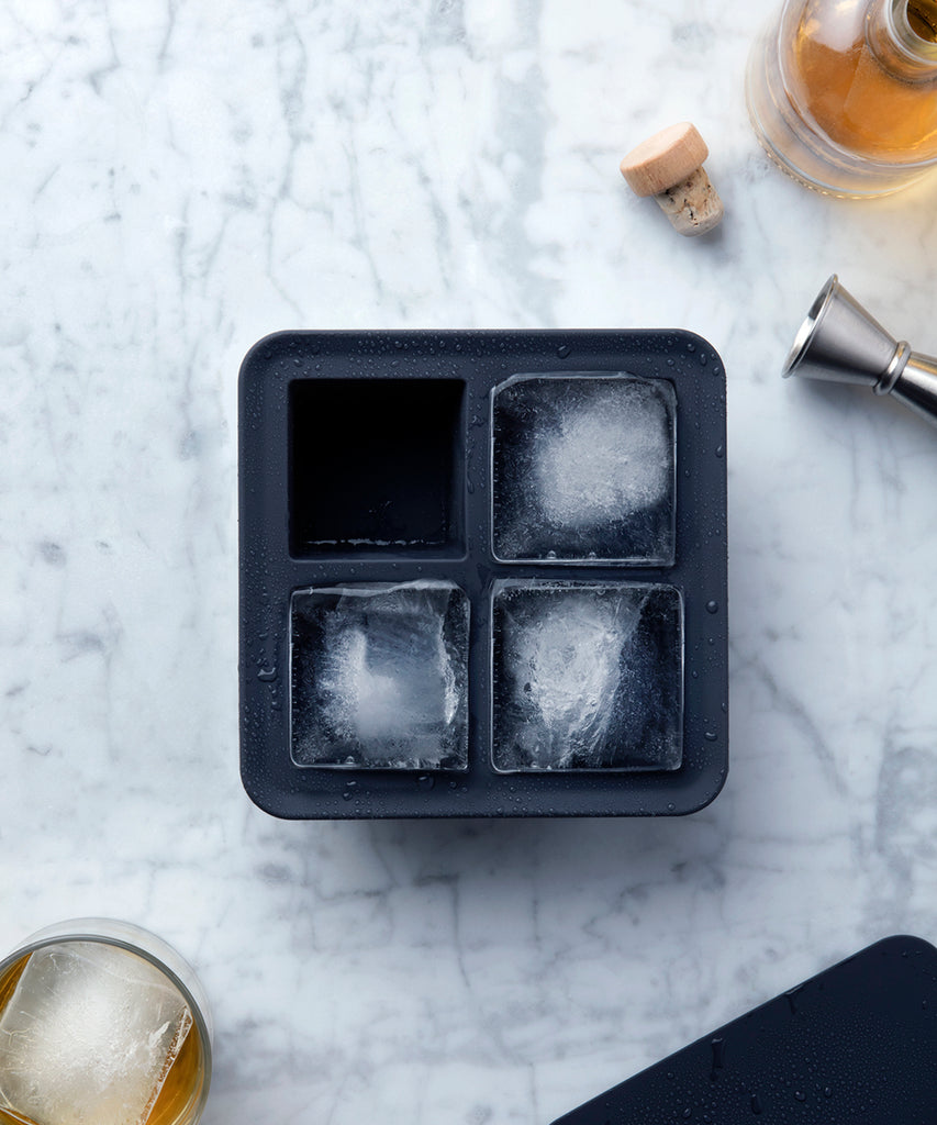 WP Design Ice Cube Tray Xlarge in Marble Black