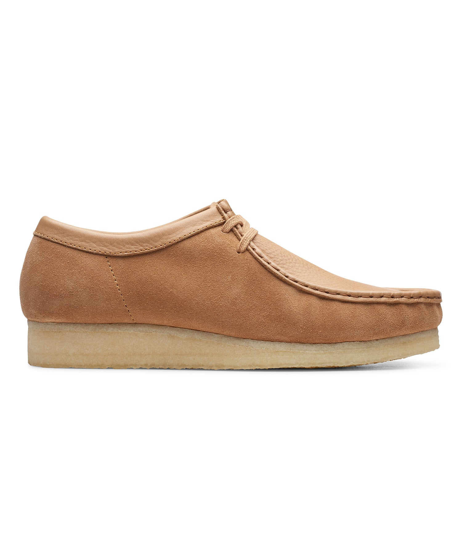 Clarks Wallabee Low Light Tan Combi