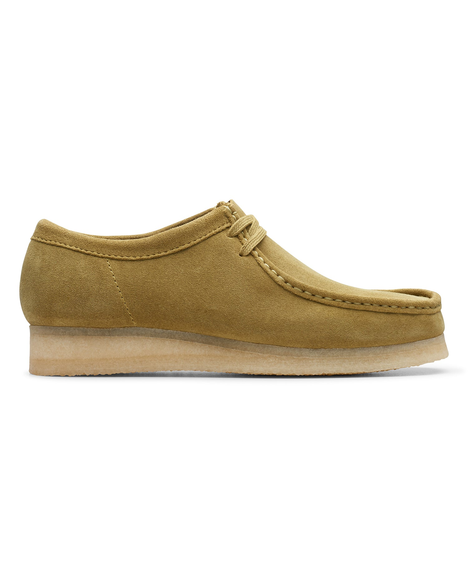 Clarks Wallabee in Khaki Suede