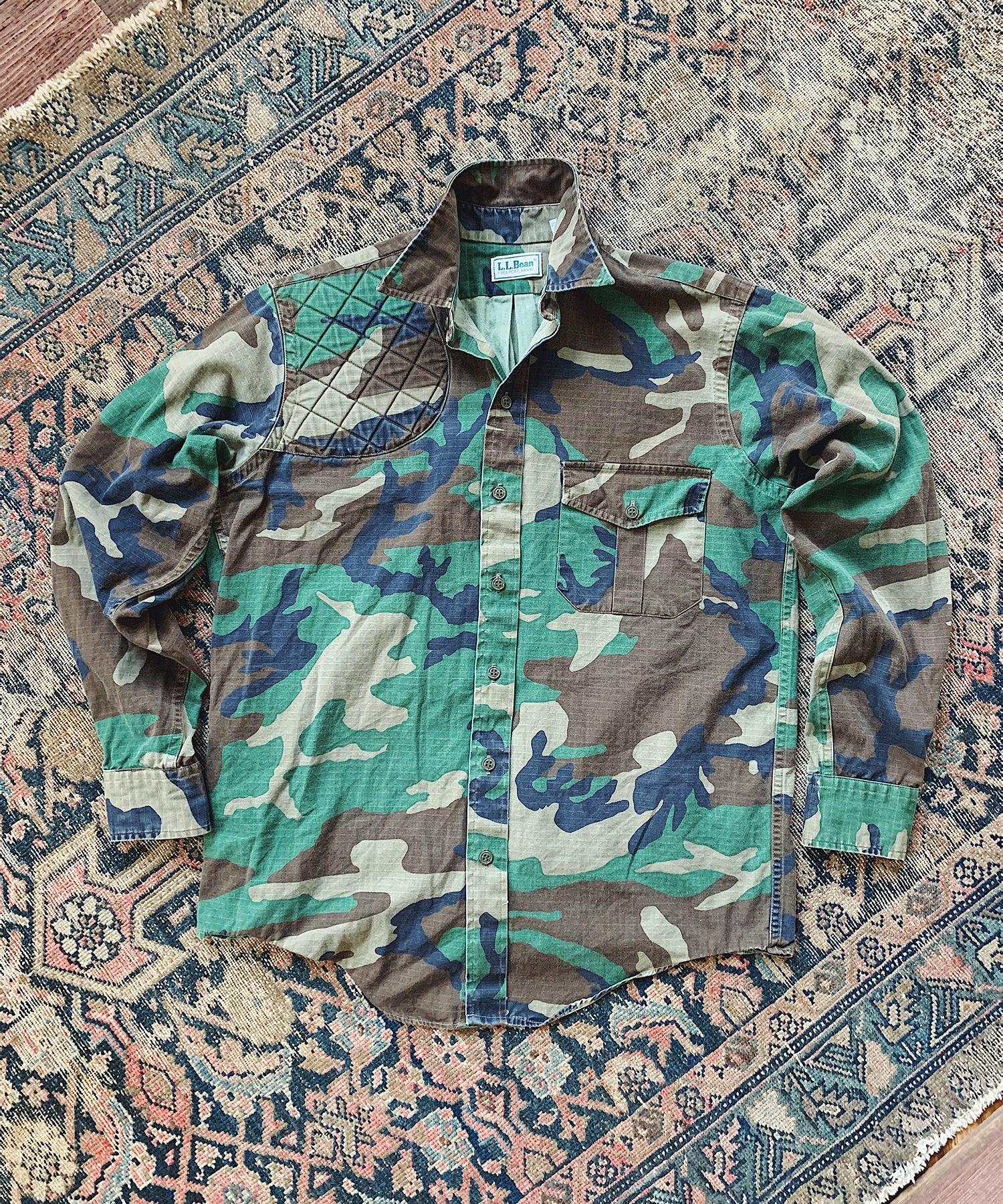 Item #21 - Todd Snyder x Wooden Sleepers 1980's Sportsman Shirt in Woodland Camo - SOLD OUT
