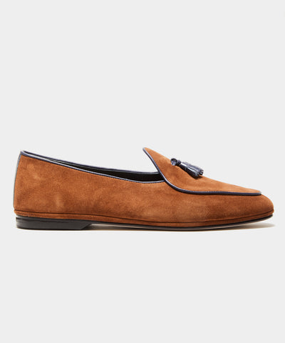 TS x Rubinacci Exclusive Marphy Loafer in Velour Tobacco