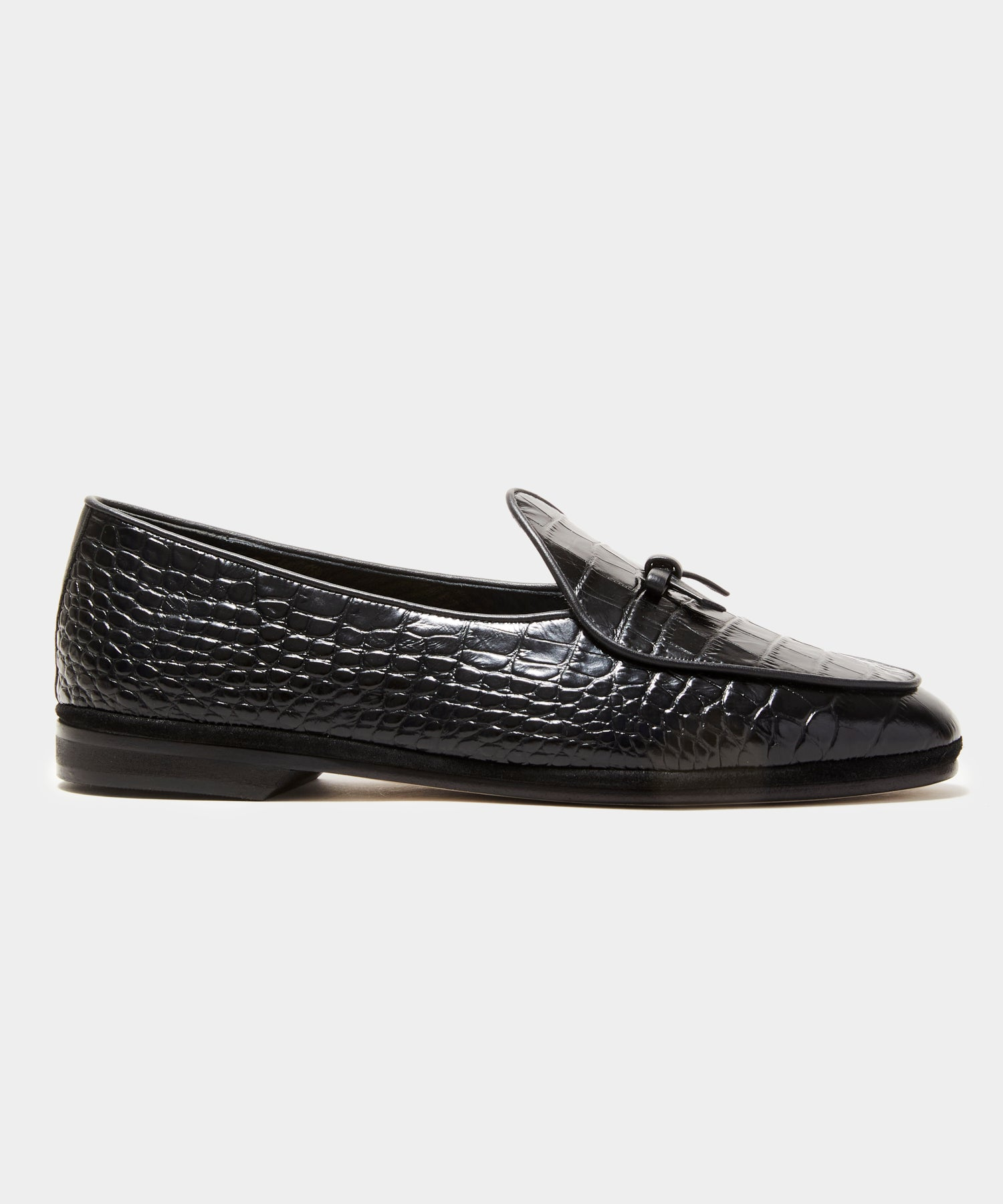 TS x Rubinacci Exclusive Marphy Loafer in Black Croc Leather