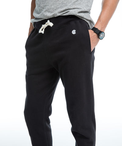 Heavyweight Slim Jogger in Black