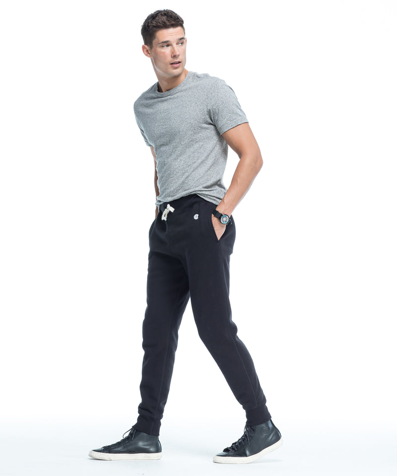 Fleece Slim Jogger Sweatpant in Black