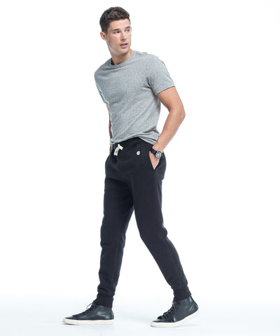 Slim Jogger Sweatpant in Black