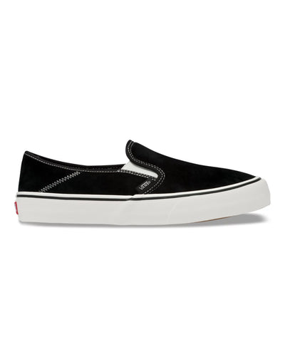 Vans Suede & Sherpa Slip-On SF in Black