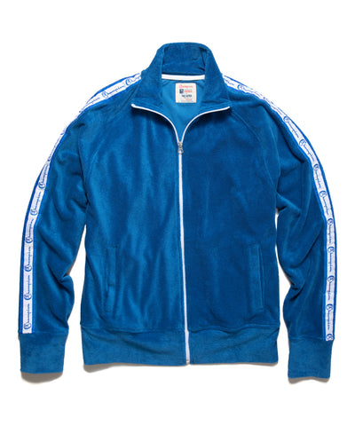 Terry Track Jacket in Regent Blue