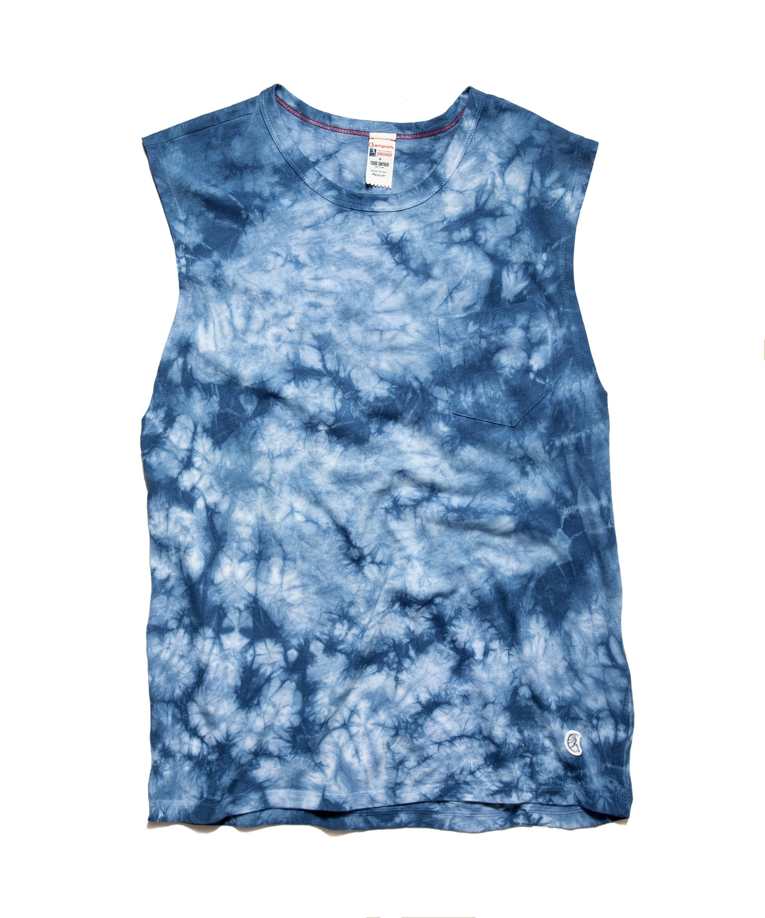 Tie Dye Muscle Tank in Blue Grotto