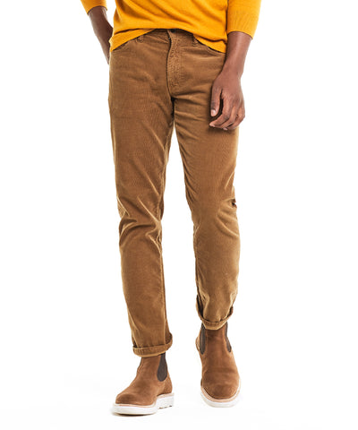 5-Pocket Stretch Italian Cord in Camel