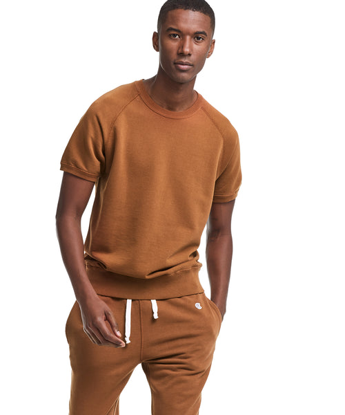 Short Sleeve Sweatshirt in Chestnut