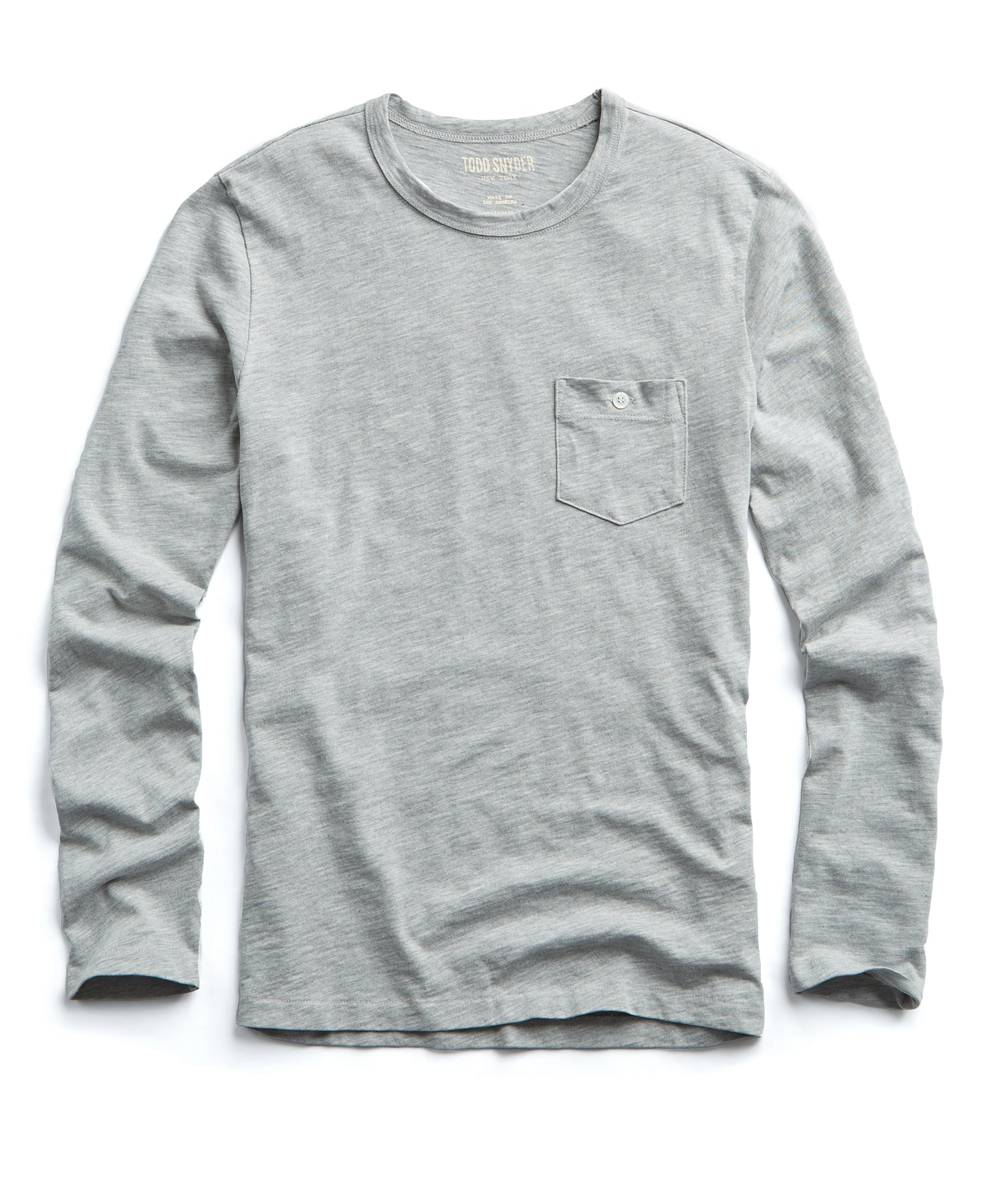 Made in L.A. Slub Jersey Long Sleeve T-Shirt in Grey Heather