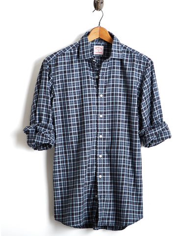 Made in the USA Hamilton + Todd Snyder Multi Color Plaid Dress Shirt