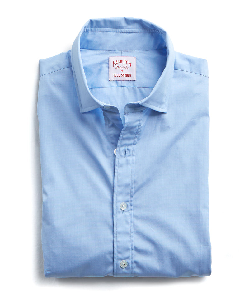Made in the USA Hamilton + Todd Snyder End on End Dress Shirt in Blue