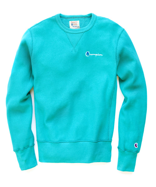Reverse Weave Retro Bright Sweatshirt In Dark Teal