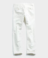 Japanese Garment Dyed Selvedge Chino In Off White