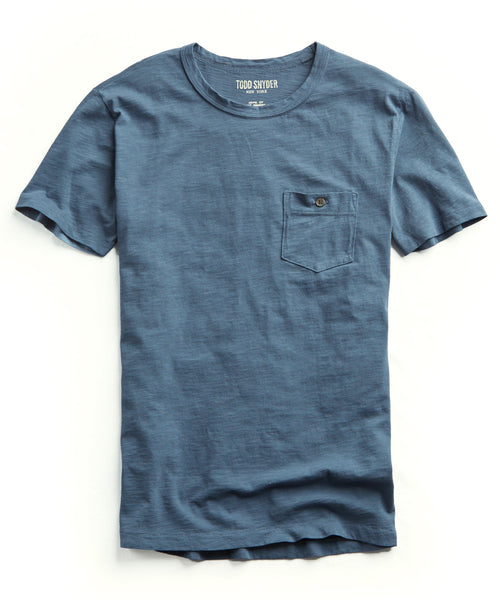 Made in L.A. Garment Dyed Pocket T-shirt in Slate