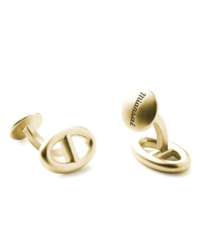 Miansai Chain Link Cufflinks in Plated Gold