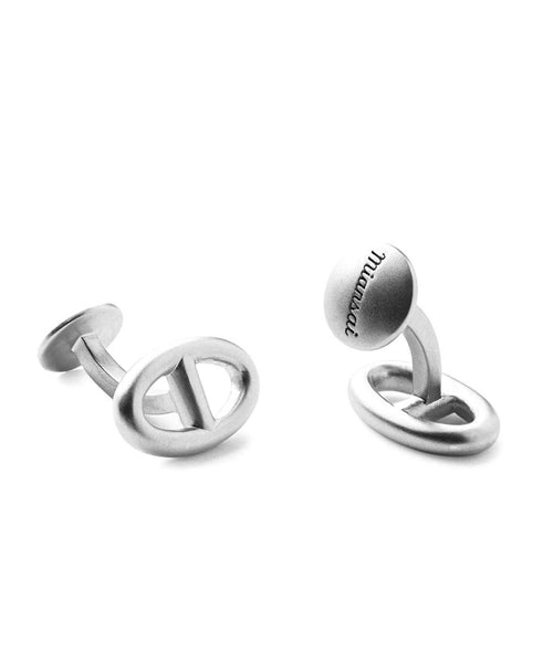 Miansai Sterling Silver Chain Cufflinks