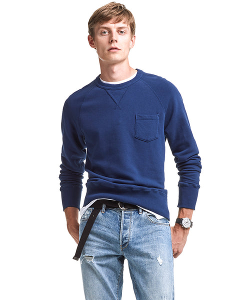 Pocket Sweatshirt in Marine Blue