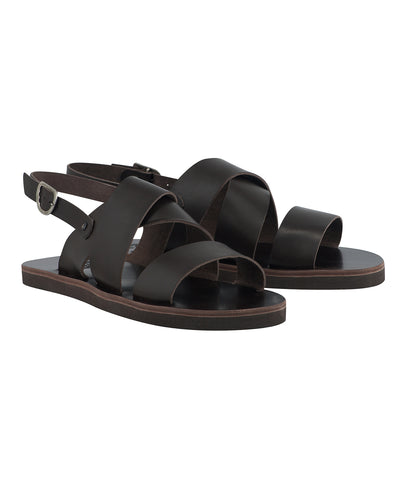 Ancient Greek Sandals Miltos Leather Beach Sandal in Brown
