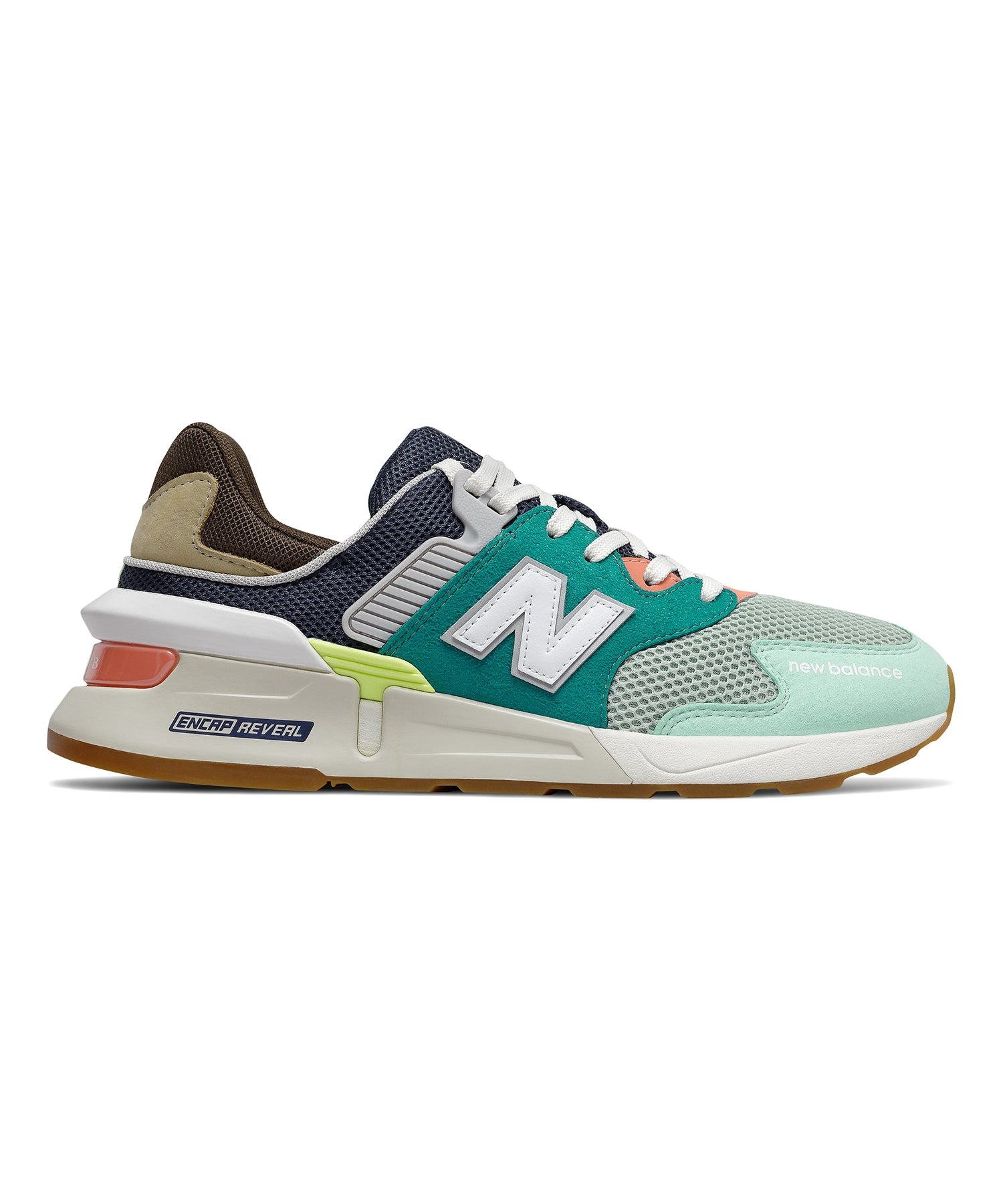 New Balance 997 Sport in Team Teal with Neo Mint