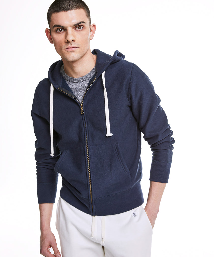 Champion Full Zip Hoodie in Navy