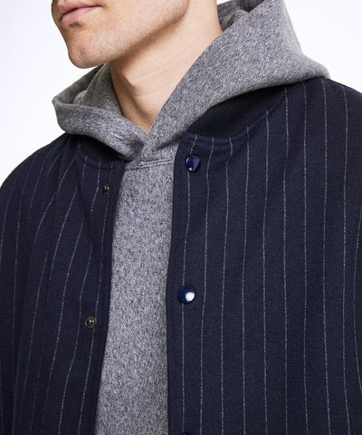 Golden Bear + Todd Snyder Exclusive Pinstripe Coaches Jacket in Navy