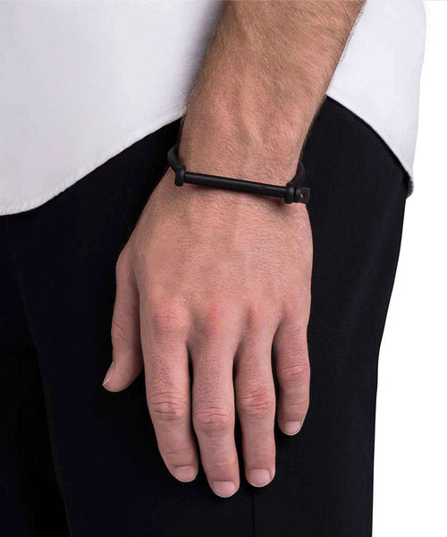 Miansai Screw Cuff Bracelet in Matte Noir