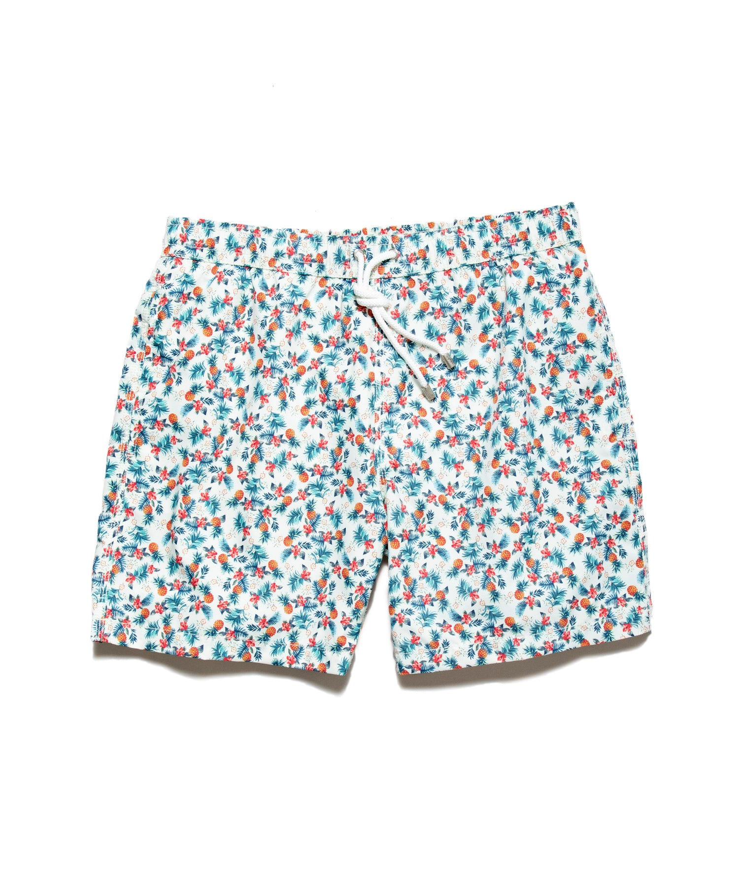 Hartford Pineapple Print Swim Shorts