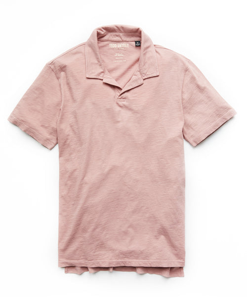 Made in L.A. Montauk Polo in Dusty Pink