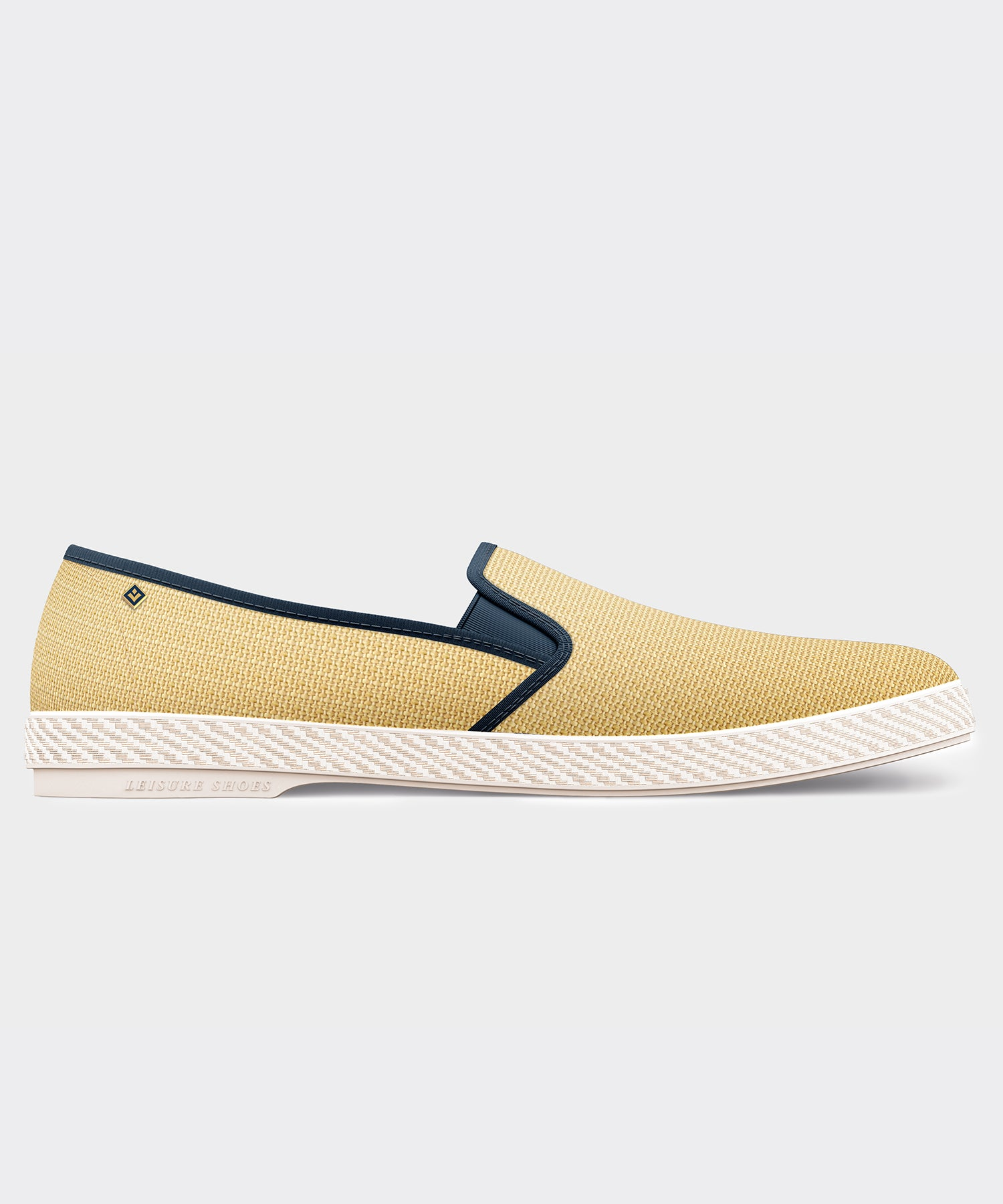 Rivieras Montecristi Raffia Leisure Shoe in Navy