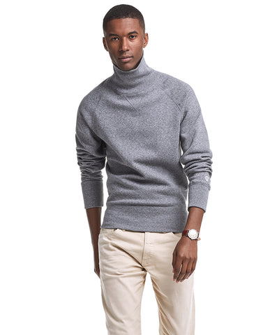 Turtleneck Sweatshirt in Salt and Pepper