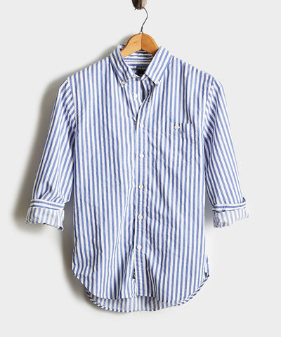 Bold Stripe Button Down Shirt in Blue