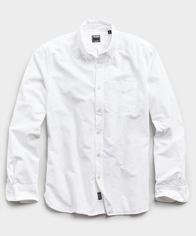 Japanese Selvedge Oxford Button Down Shirt in White