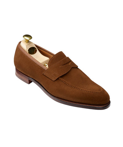 Crockett and Jones Sydney Snuff Suede Loafer