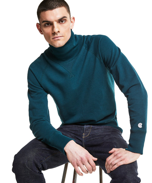 Champion Turtleneck Sweatshirt in Petrol Blue