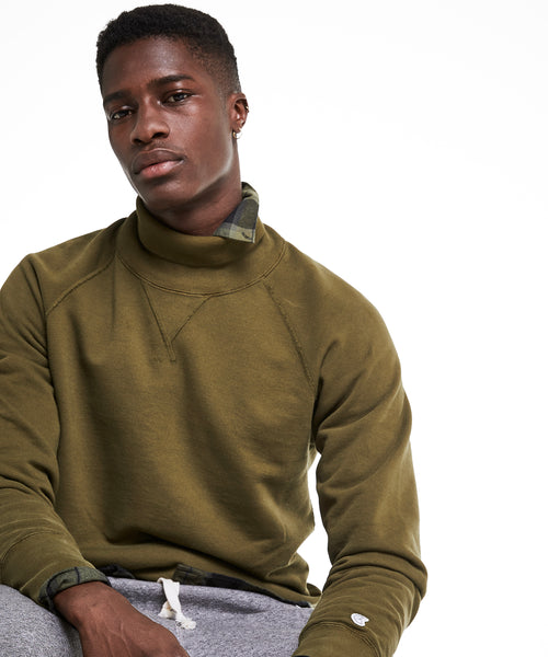 Champion Turtleneck Sweatshirt in Military Olive